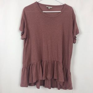 Calvin Klein drop waist ruffle blouse